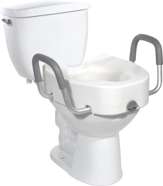 Premium Plastic, Raised, Elongated Toilet Seat with Lock